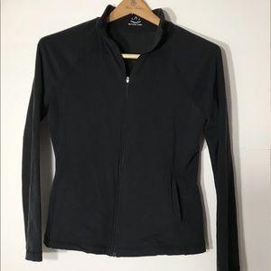 Beyond Yoga Black medium zip up jacket